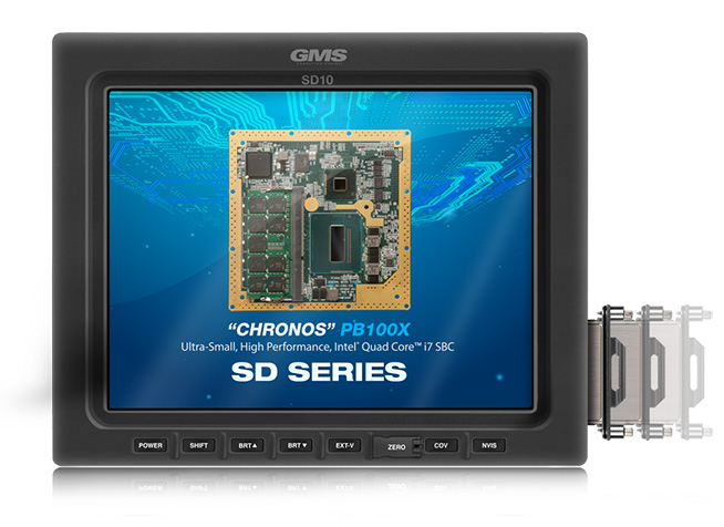 GMS SD10 Rugged, Standard Definition Smart Display with Removable Drive