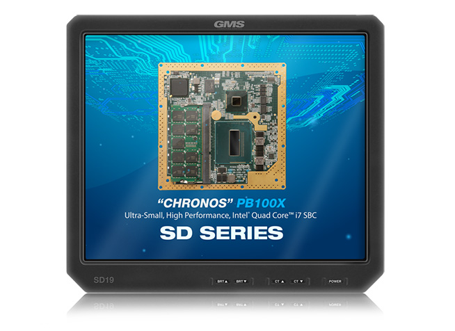 GMS SD19 Rugged, Standard Definition Smart Display with Removable Drive