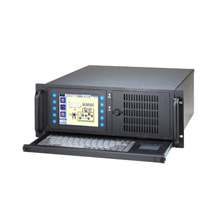 """advantech IPPC-4001D  5.7"""" VGA TFT LCD 4U 19"""" Rack Industrial Panel PC with 14 Expansion Slots & Keyboard Drawer"""