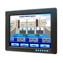 """Advantech FPM-3121G 12.1"""" SVGA Industrial Monitor with Resistive Touchscreen, Direct-VGA, DVI and Wide Operating Temperature"""