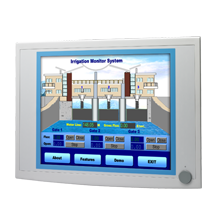 "Advantech FPM-5172G 17"" SXGA Industrial Monitors with Resistive Touchscreens, Lockable Display Port"