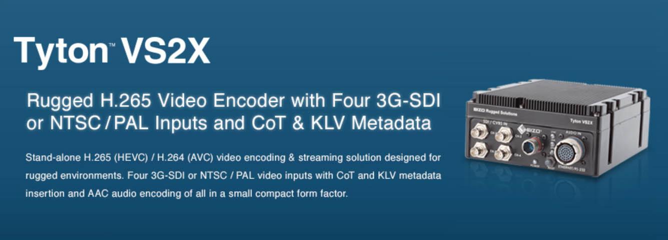 EIZO Tyton VS2X video encoding 3G-SDI Inputs KLV Metadata