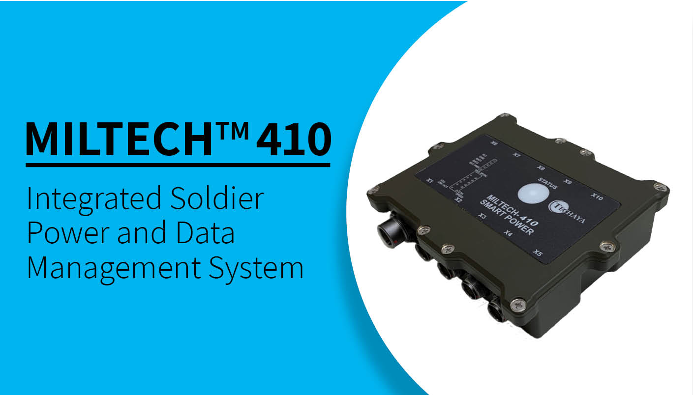 Techaya MILTECH 410 Integrated Soldier Power and Data Management System (ISPDS)