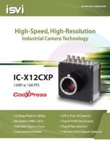 ISVI 12MP @ 168fps B/W CoaXPress Camera   IC-M12CXP