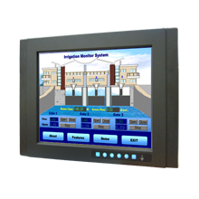 "Advantech FPM-3151G 15"" XGA Industrial Monitor with Resistive Touchscreen, Direct-VGA, DVI Ports, and Wide Operating Temperature"