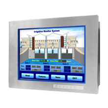 "Advantech FPM-8151H 15"" XGA Industrial Monitor for Hazardous Location, with 316L Stainless Steel Front Panel"