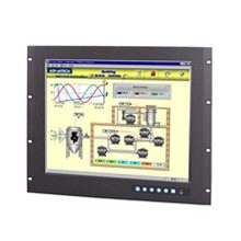 "Advantech FPM-3191G 9U Rackmount 19"" SXGA Industrial Monitor with Resistive Touchscreen, Direct-VGA and DVI Ports"
